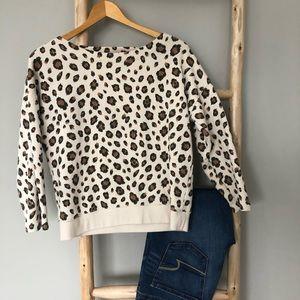 J crew leopard print sweater